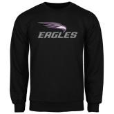Black Fleece Crew-Eagles with Head