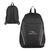 Atlas Black Computer Backpack-Eagles with Head