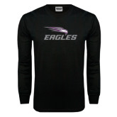 Black Long Sleeve TShirt-Eagles with Head