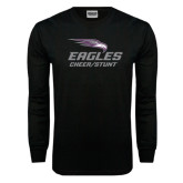 Black Long Sleeve TShirt-Cheer and Stunt