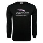Black Long Sleeve TShirt-Cheer and Stunt