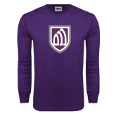 Purple Long Sleeve T Shirt-Shield