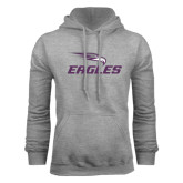 Grey Fleece Hoodie-Eagles with Head