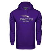 Under Armour Purple Performance Sweats Team Hoodie-Soccer