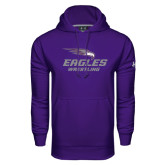 Under Armour Purple Performance Sweats Team Hoodie-Wrestling