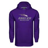 Under Armour Purple Performance Sweats Team Hoodie-Wrestling
