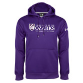 Under Armour Purple Performance Sweats Team Hoodie-Institutional Mark Clarksville Arkansas