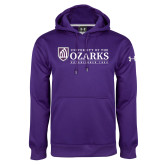 Under Armour Purple Performance Sweats Team Hoodie-Institutional Mark Established 1834