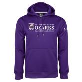 Under Armour Purple Performance Sweats Team Hoodie-Institutional Mark Established 1834