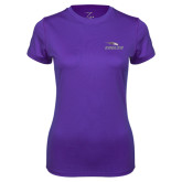 Ladies Syntrel Performance Purple Tee-Eagles with Head