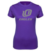 Ladies Syntrel Performance Purple Tee-UO