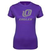 Ladies Syntrel Performance Purple Tee-UO