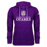 Adidas Climawarm Purple Team Issue Hoodie-Institutional Mark Stacked