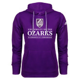 Adidas Climawarm Purple Team Issue Hoodie-Institutional Mark Clarksville Arkansas Stacked
