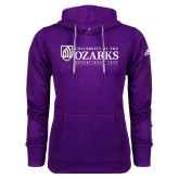 Adidas Climawarm Purple Team Issue Hoodie-Institutional Mark Established 1834
