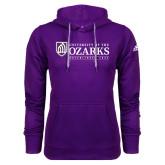 Adidas Climawarm Purple Team Issue Hoodie-Institutional Mark Established 1834