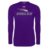Under Armour Purple Long Sleeve Tech Tee-Eagles with Head