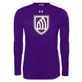 Under Armour Purple Long Sleeve Tech Tee-Shield