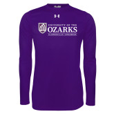 Under Armour Purple Long Sleeve Tech Tee-Institutional Mark Clarksville Arkansas
