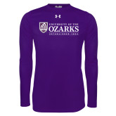 Under Armour Purple Long Sleeve Tech Tee-Institutional Mark Established 1834