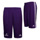 Adidas Climalite Purple Practice Short-Institutional Mark Stacked
