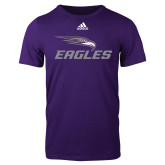 Adidas Purple Logo T Shirt-Eagles with Head