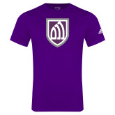 Adidas Purple Logo T Shirt-Shield