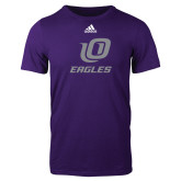 Adidas Purple Logo T Shirt-UO