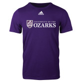 Adidas Purple Logo T Shirt-Primary Mark