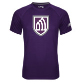 Adidas Climalite Purple Ultimate Performance Tee-Shield