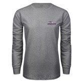 Grey Long Sleeve T Shirt-Eagles with Head