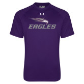Under Armour Purple Tech Tee-Eagles with Head