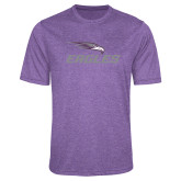 Performance Purple Heather Contender Tee-Eagles with Head