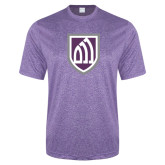 Performance Purple Heather Contender Tee-Shield