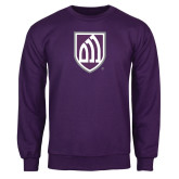 Purple Fleece Crew-Shield