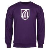 Purple Fleece Crew-Shield
