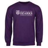 Purple Fleece Crew-Institutional Mark Clarksville Arkansas