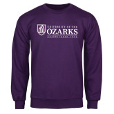Purple Fleece Crew-Institutional Mark Established 1834