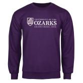 Purple Fleece Crew-Institutional Mark Established 1834