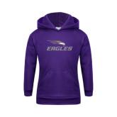 Youth Purple Fleece Hoodie-Eagles with Head
