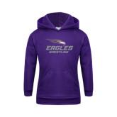 Youth Purple Fleece Hoodie-Wrestling