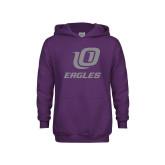 Youth Purple Fleece Hoodie-UO