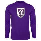Syntrel Performance Purple Longsleeve Shirt-Shield