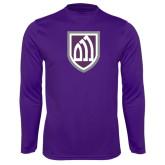 Performance Purple Longsleeve Shirt-Shield