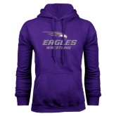 Purple Fleece Hoodie-Wrestling