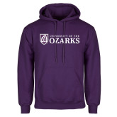 Purple Fleece Hoodie-Primary Mark