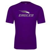 Performance Purple Tee-Eagles with Head