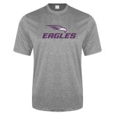 Performance Grey Heather Contender Tee-Eagles with Head