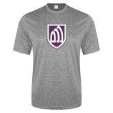 Performance Grey Heather Contender Tee-Shield