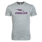 Next Level SoftStyle Heather Grey T Shirt-Eagles with Head